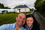 Allison and I in front of the Caulfield home in Granlahan, County Roscommon, Ireland on Tuesday, June 25th 2013. (Photo by Brian Garfinkel)