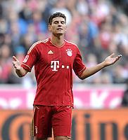 FUSSBALL   1. BUNDESLIGA  SAISON 2011/2012   11. Spieltag FC Bayern Muenchen - FC Nuernberg        29.10.2011 Mario Gomez (FC Bayern Muenchen)