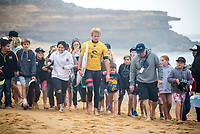 BELLS BEACH, Victoria/AUS (Wednesday, April 19, 2017) John John Florence (HAW) - Jordy Smith (ZAF) has won The Rip Curl Pro Bells Beach, the third stop of the World Surf League (WSL) Championship Tour (CT). He defeated Caio Ibelli (BRA)in the 35 minute final.   Competitors  faced challenging six-to-eight foot waves (2 - 2.5 metre) at the Bells Bowl thought the day.<br /> Caio Ibelli (BRA) had defeated John John Florence (HAW) in the first semi final while Smith had defeated tour rookie Ezekiel Lau (HAW) in the second. Florence retains the ratings lead.<br /> Location:   Bells Beach, Victoria, Australia<br /> Event window:April 12 - 24, 2017<br /> Today's call:Men's Round 4 called ON<br /> Conditions:6 - 8 foot (2 - 2.5 metre)<br /> <br /> Photo: joliphotos.com