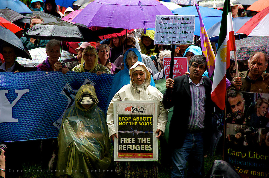 Declare Peace on Refugees, Palm Sunday Rally and March, Sydney 13.04.14