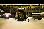 Photo shows the entranceway to the Otaru Beer microbrewery in Otaru, Japan on 09 Feb. 2010. The brewery is located in an old warehouse in a part of the fishing town that was once the center of the its busy port in the early 20th century but today area is now a popular tourist destination sporting craft shops and cafes.