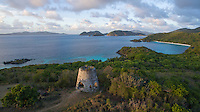 View of Peace Hill looking towards Trunk Bay<br /> Virgin Islands National Park<br /> St. John<br /> US Virgin Islands