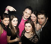 WARSAW, POLAND, JANUARY 2013:<br /> Patryk Pegza, the leader of  AFTER PARTY band that plays disco polo music is posing with his fans at the Eden club in Trojany near Warsaw. Disco polo is a type of dance music which originated in rural areas of Poland.<br /> Though considered tacky by many people, it is becoming incredibly popular<br /> (Photo by Piotr Malecki / Napo Images)<br /> <br /> Trojany k/Warszawy, styczen 2013:<br />  Patryk Pegza, lider zespolu &quot;After Party&quot; z fanami. Klub Eden w Trojanach k/W-wy<br /> Fot: Piotr Malecki / Napo Images