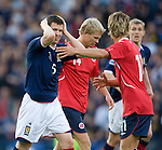 Gary Caldwell and Darren Fletcher dejection