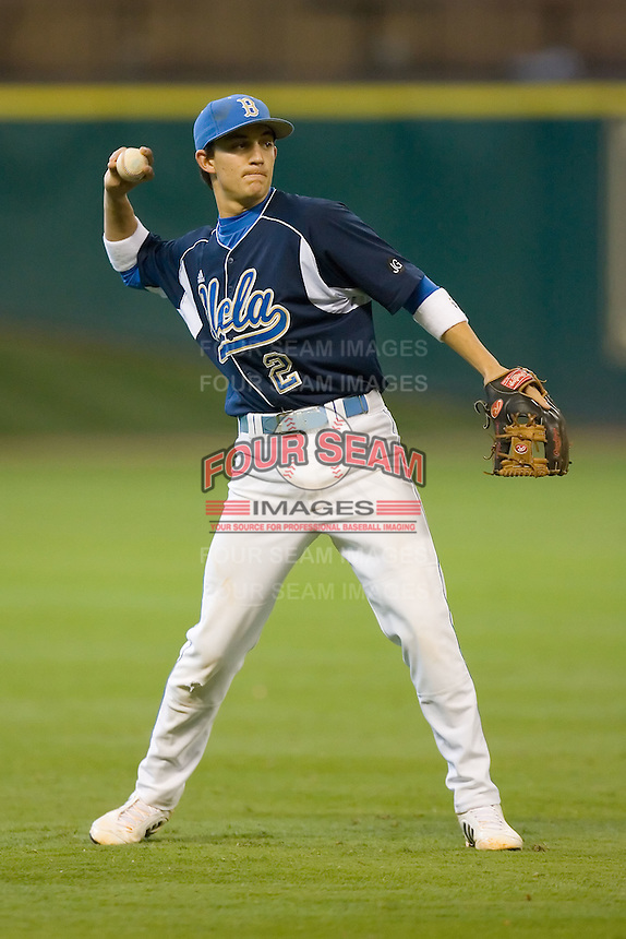 Shortstop Niko Gallego #2 of the UCLA Bruins in action versus the Baylor Bears in the 2009 Houston College Classic at Minute Maid Park February 28, 2009 in Houston, TX.  The Bears defeated the Bruins 5-1. (Photo by Brian Westerholt / Four Seam Images)