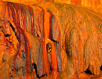 Detail of hot spring flow at Puente Del Inca  Andes Mountains, Argentina Natural travertine bridge  Colors from travertine flow
