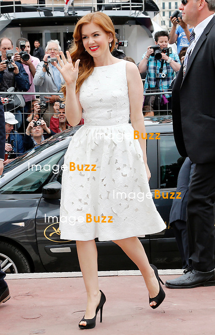 CPE/May 15, 2013-Cannes (FR)-Actress Isla Fisher arrives at Palais Des Festivals for 'The Great Gatsby' photocall.
