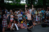 People attend the annual Museum Mile Festival, in which admission to nine New York City museums  is free in New York on June 11, 2014 in New York City. Kena BetancurVIEWpress