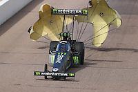 Feb 26, 2017; Chandler, AZ, USA; NHRA top fuel driver Brittany Force during the Arizona Nationals at Wild Horse Pass Motorsports Park. Mandatory Credit: Mark J. Rebilas-USA TODAY Sports