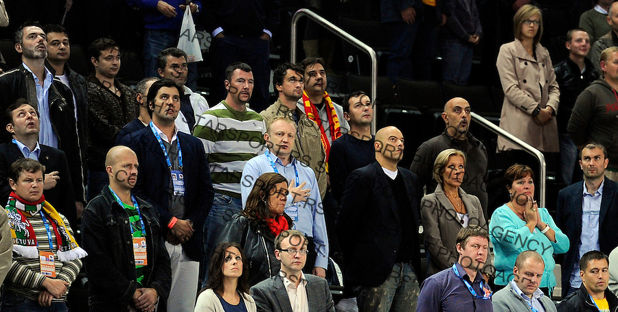 Dejan Bodiroga Dragan Djilas during quarterfinal basketball game between Russia and Serbia in Kaunas, Lithuania, Eurobasket 2011, Thursday, September 15, 2011. (photo: Pedja Milosavljevic)