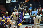 "LSU's Johnny O'Bryant III (2) vs. Ole Miss' Reginald Buckner (23) at the C.M. ""Tad"" Smith Coliseum in Oxford, Miss. on Saturday, February 25, 2012. (AP Photo/Oxford Eagle, Bruce Newman).."