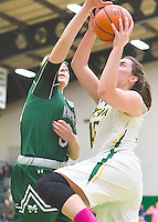 Siena defeats Manhattan 67-62 in a MAAC conference game on February 10, 2017 at the Alumni Recreation Center in Loudonville, New York.  (Bob Mayberger/Eclipse Sportswire)