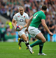 Mike Brown of England in possession. QBE International match between England and Ireland on September 5, 2015 at Twickenham Stadium in London, England. Photo by: Patrick Khachfe / Onside Images