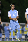 08 October 2013: North Carolina's Colton Storm. The University of North Carolina Tar Heels hosted the Clemson University Tigers at Fetzer Field in Chapel Hill, NC in a 2013 NCAA Division I Men's Soccer match. Clemson won the game 2-1 in overtime.