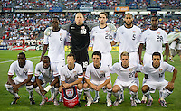 USA's starting 11 during an international friendly tune up match for the 2012 World Cup, in Hartford, CT, 05/25/10. The Czech Republic defeated the USA 4-2.