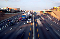 I-35 rush hour traffic in downtown Austin, Texas