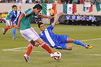 Mexico Pablo Barrera (7) makes a pass against Guatemala Gustavo Cabrera (6)   Mexico defeated Guatemala 2-1 in the quaterfinals for the 2011 CONCACAF Gold Cup , at the New Meadowlands Stadium, Saturday June 18, 2011.