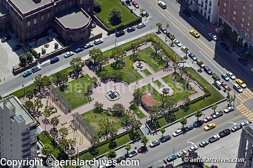 aerial photograph Huntington Park Nob Hill San Francisco California