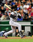 29 September 2009: New York Mets' center fielder Carlos Beltran in action against the Washington Nationals at Nationals Park in Washington, DC. The Nationals rallied to defeat the Mets 4-3 in the second game of their final 3-game home series. Mandatory Credit: Ed Wolfstein Photo