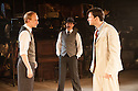 MACK & MABEL opens at Southwark Playhouse. Picture shows:  Stuart Matthew Price (as Frank), Steven Serlin (as Kessel) and Norman Bowman (as Mack).