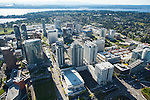 aerial photos of downtown Bellevue, Washington