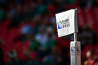 A general view of a corner flag at Wembley Stadium. Rugby World Cup Pool D match between Ireland and Romania on September 27, 2015 at Wembley Stadium in London, England. Photo by: Patrick Khachfe / Onside Images