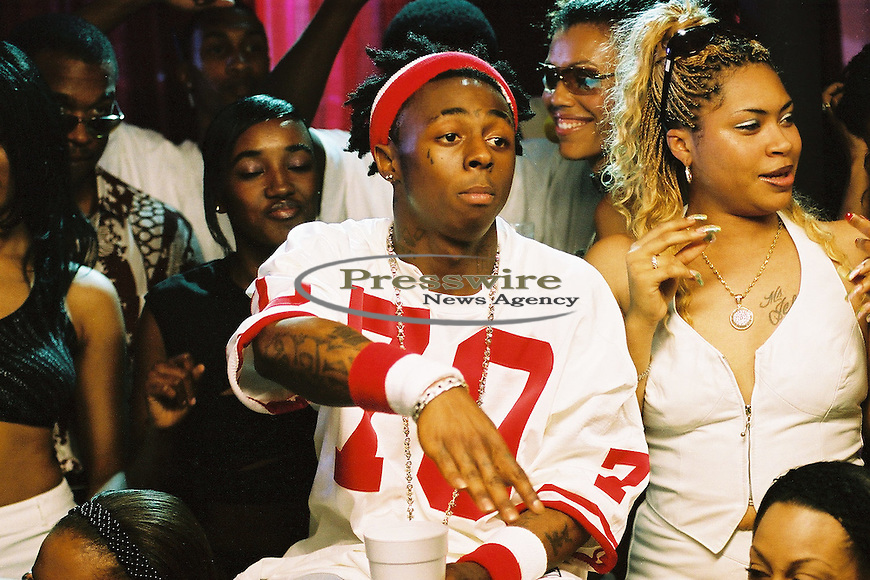 """Lil Wayne shooting the """"Way of Life"""" video in New Orleans on April 14, 2002.  Photo by:  Presswire News/Elgin Edmonds"""