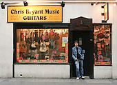 Chris Bryant guitar shop, Soho, London.
