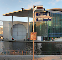 The Marie-Elisabeth Luders building, architect Stephane Braunfels, 2003, the scientific service centre of the new parliamentary complex in the new government quarter of Berlin, opened 2003, on the East bank of the river Spree opposite the Reichstag on Federal Row, Berlin, Germany. It is named after Marie-Elisabeth Luders, 1878-1966, German politician and important figure in the German women's rights movement. Picture by Manuel Cohen