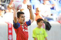 Tony Beltran (2) of Real Salt Lake during a Major League Soccer (MLS) match at Red Bull Arena in Harrison, NJ, on October 09, 2010.