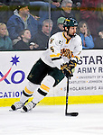 30 November 2009: University of Vermont Catamount forward Brayden Irwin, a Senior from Toronto, Ontario, in action against the Yale University Bulldogs at Gutterson Fieldhouse in Burlington, Vermont. The Catamounts shut out the Bulldogs 1-0 in a rematch of last season's first round of the NCAA post-season playoff Tournament. Mandatory Credit: Ed Wolfstein Photo