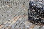 Cobblestones in North Square, Boston, Massachusetts, USA