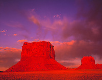 Los Gigantes Buttes at Sunset, Arizona Lukachukai Mountains Navajo Reservation