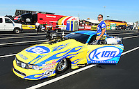 Sept. 28, 2012; Madison, IL, USA: NHRA crew members for pro mod driver Mike Janis during qualifying for the Midwest Nationals at Gateway Motorsports Park. Mandatory Credit: Mark J. Rebilas-