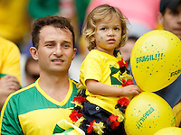 A dejected Brazil fans
