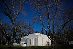 "The New Clairvaux Abbey ""chapter house"" in Vina, Calif. is made from 800-year-old-stones from a Spanish medieval monastery."