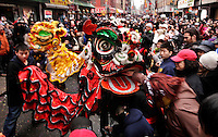 Chinese New Year celebration in New York's Chinatown.in New York, United States. 18/01/2012. Photo by Kena Betancur / VIEWpress.