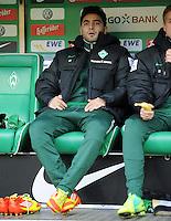 FUSSBALL   1. BUNDESLIGA   SAISON 2011/2012    14. SPIELTAG SV Werder Bremen - VfB Stuttgart       27.11.2011 Mehmet EKICI (SV Werder Bremen) auf der Ersatzbank