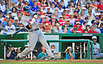 3 July 2010: New York Mets' outfielder Jason Bay in action against the Washington Nationals at Nationals Park in Washington, DC. The Nationals rallied in the bottom of the 9th to defeat the Mets 6-5 in the third game of their 4-game series. Mandatory Credit: Ed Wolfstein Photo
