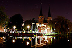 The Oost Poort - The Old City Gates to Delft at night