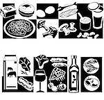 Different types of food