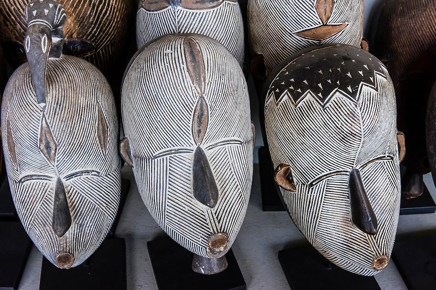 African Masks, Amatuli Fine Art, Johannesburg, South Africa.
