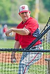 20 March 2015: Washington Nationals coach Mark Weidemaier tosses batting practice prior to a Spring Training game against the Houston Astros at Osceola County Stadium in Kissimmee, Florida. The Nationals defeated the Astros 7-5 in Grapefruit League play. Mandatory Credit: Ed Wolfstein Photo *** RAW (NEF) Image File Available ***