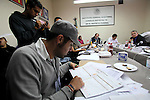 Mexican citizens attend the session of the electoral district 14 in the southern side of Mexico City, July 4, 2012. Today the parties and citizens start counting the ballots of the electiosn for president in Mexico. Photo by Heriberto Rodriguez