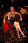 'GAYFEST MANCHESTER, UK', A GAY MAN WEARING A SPARKLING DRESS AT THE LAVENDER BALL HELD AT THE PALACE HOTEL, MANCHESTER,