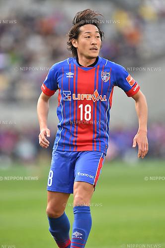 Naohiro Ishikawa (FC Tokyo), APRIL 18, 2015 - Football /Soccer : 2015 J1 League 1st stage match between F.C. Tokyo 1-2 Sanfrecce Hiroshima at Ajinomoto Stadium in Tokyo, Japan. (Photo by AFLO)