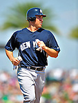 11 March 2009: New York Yankees' infielder Mark Teixeira in action during a Spring Training game against the Detroit Tigers at Joker Marchant Stadium in Lakeland, Florida. The Tigers defeated the Yankees 7-4 in the Grapefruit League matchup. Mandatory Photo Credit: Ed Wolfstein Photo