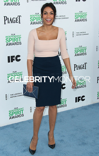 SANTA MONICA, CA, USA - MARCH 01: Rosario Dawson at the 2014 Film Independent Spirit Awards held at Santa Monica Beach on March 1, 2014 in Santa Monica, California, United States. (Photo by Xavier Collin/Celebrity Monitor)