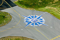 aerial photograph compass rose Petaluma airport, Petaluma, California