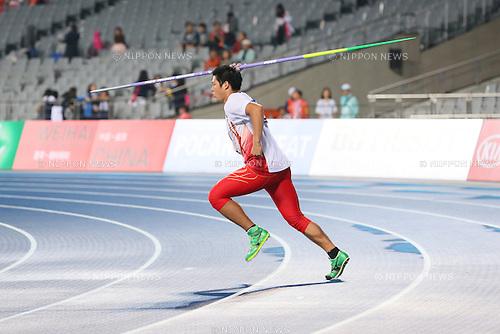 Ryohei Arai (JPN), <br /> OCTOBOR 2, 2014 - Athletics : <br /> Men's Javelin Throw <br /> at Incheon Asiad Main Stadium <br /> during the 2014 Incheon Asian Games in Incheon, South Korea. <br /> (Photo by Yohei Osada/AFLO SPORT)